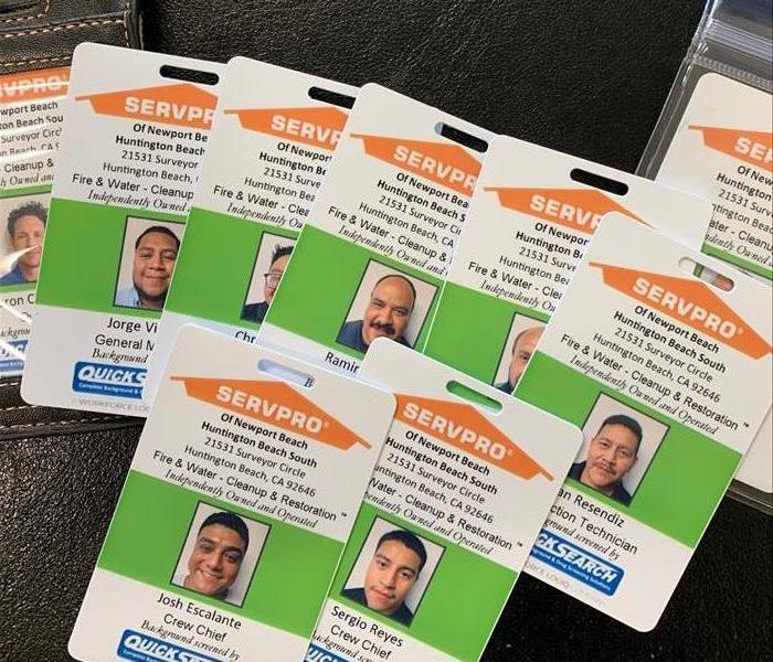 SERVPRO Newport Beach ID cards