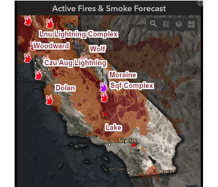 Southern California fire map